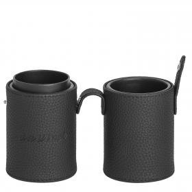 Pinselbox schwarz / Pinsel aufbewahrung / Pinselhalter