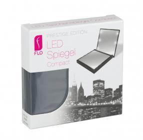 Becker LED-Taschenspiegel schwarz 7x7cm